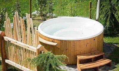 hot tub garden outdoor